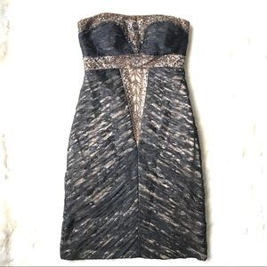 Sue Wong Nocturne Strapless Beaded Lace Dress 2